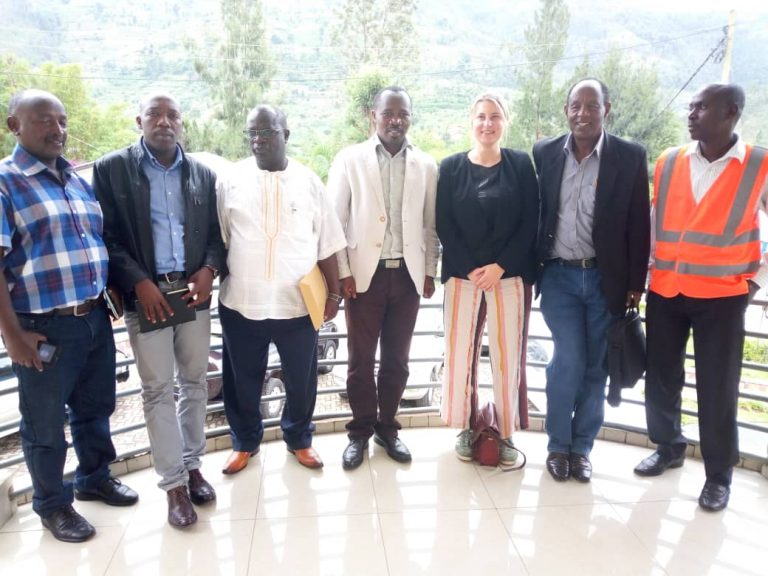 """The visit of FAO Headquarter Staff to follow up the project of """"Rational use of Yanze river water for local agriculture development in Rulindo District, and for domestic use in Kigali city"""